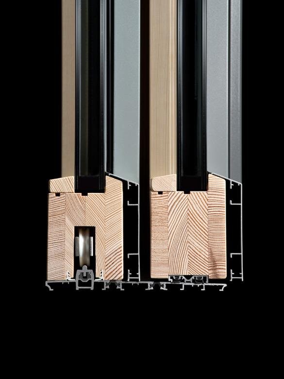 Carretta Serramenti Dual 80 Alzante produzione finestre in legno e alluminio per abitazioni e contract a zanè vicenza veneto italia
