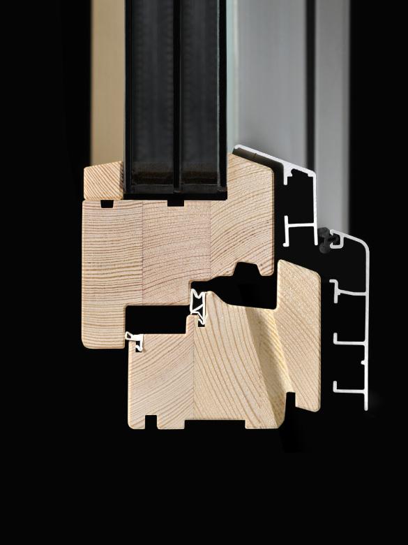 Carretta Serramenti Dual 80 produzione finestre in legno e alluminio per abitazioni e contract a zanè vicenza veneto italia