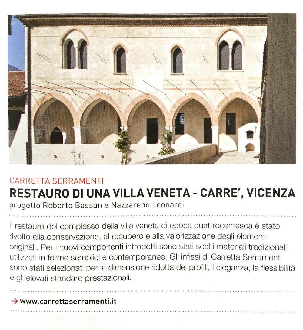 Carretta Serramenti produzione finestre in legno e alluminio articolo Casabella