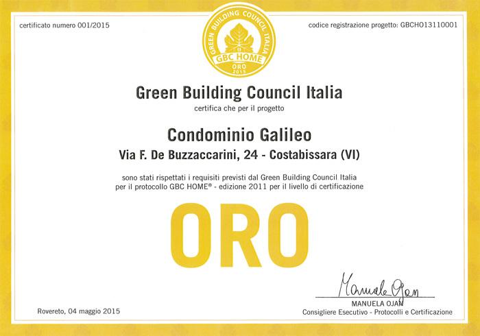 Carretta Serramenti produzione finestre in legno e alluminio Certificato Oro GBC