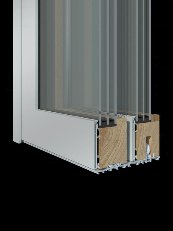 Carretta Serramenti Contempora 100 alzante produzione finestre in legno e alluminio per abitazioni e contract a zanè vicenza veneto italia