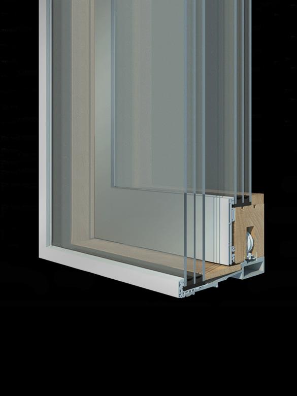 Carretta Serramenti Contempora 100 alzante zero produzione finestre in legno e alluminio per abitazioni e contract a zanè vicenza veneto italia