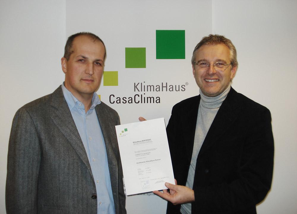 Carretta Serramenti produzione finestre in legno e alluminio Partner CasaClima