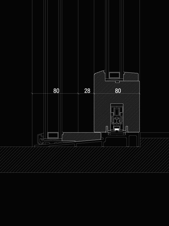 Carretta Serramenti Therma 80 alzante zero produzione finestre in legno e alluminio per abitazioni e contract a zanè vicenza veneto italia