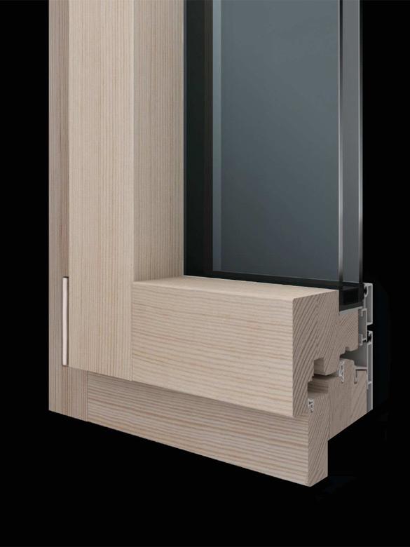 Carretta Serramenti Slim 100 alzante produzione finestre in legno e alluminio per abitazioni e contract a zanè vicenza veneto italia